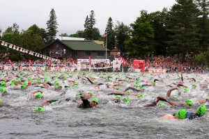 My image of the Lake Placid Ironman swim keeps me motivated to improve my strength and skill in the water. Photo by Randy Mews.