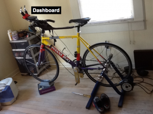 When you ride a trainer bike there are two main sources of data collection, the dashboard and perceived effort.