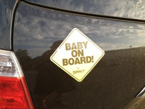 Baby on Board bummer sticker