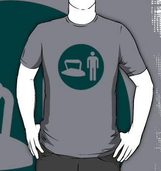 Ironman tee-shirt by Duncan, available at RedBubble - click on figure for link.