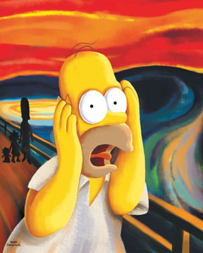 Homer Simpson, the scream