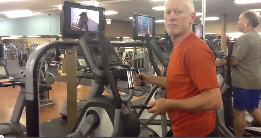 FitOldDog on the elliptical trainer small file
