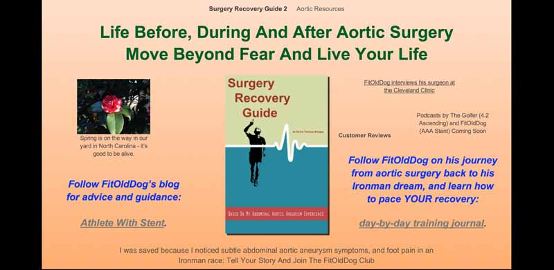 FitOldDog's aortic patient website.
