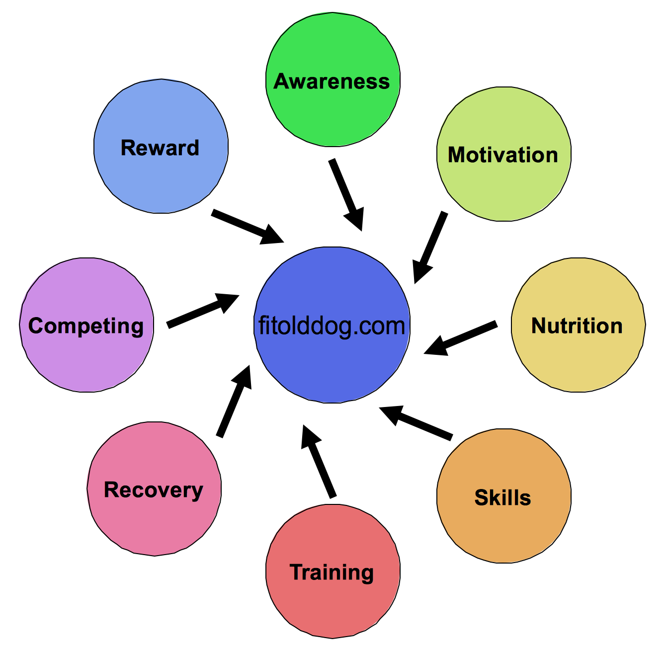 FitOldDog's training wheel