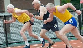 Old Guys running.