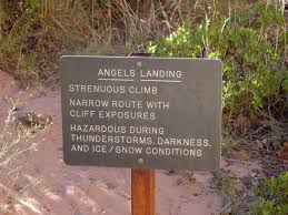 Angel's Landing Sign