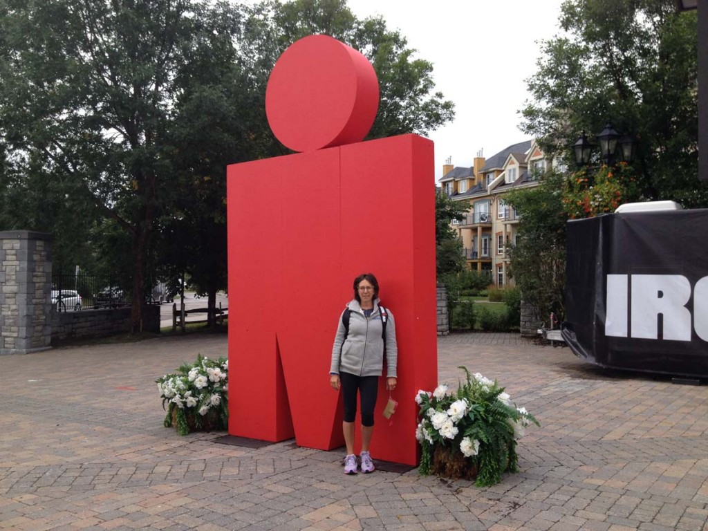 FitOldDog's friend Steph at the Mont-Tremblant Ironman