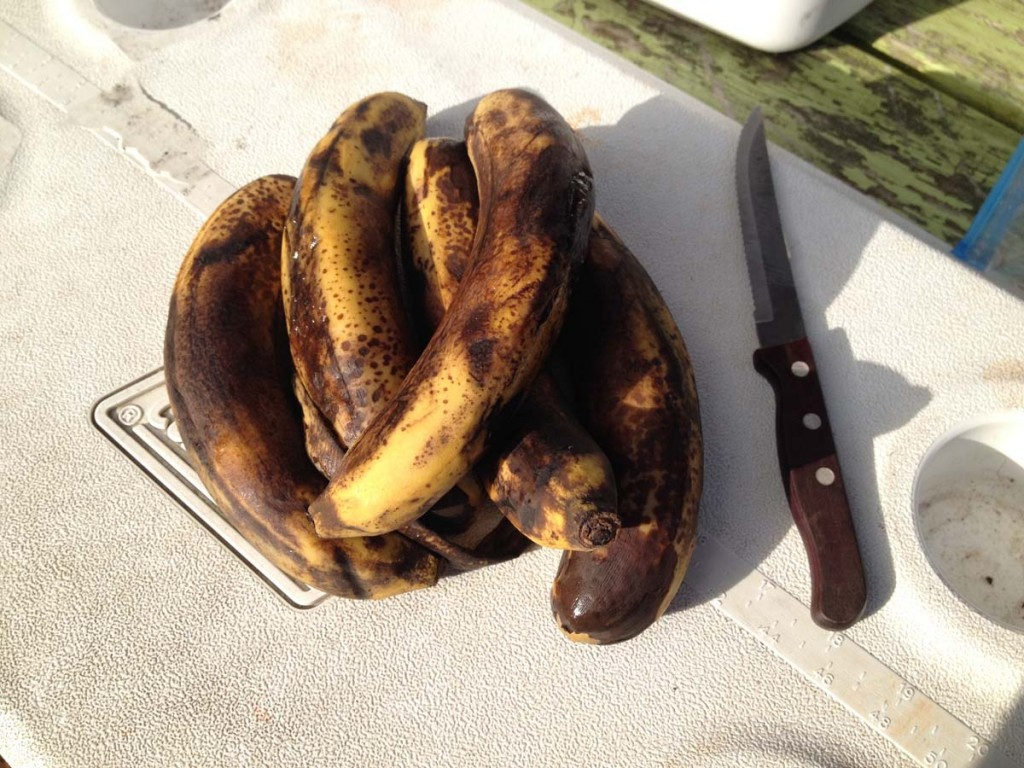 Black bananas are sweet bananas.