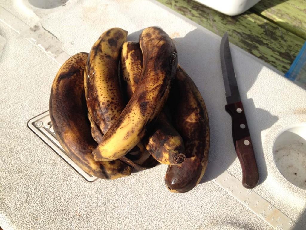 Black bananas are sweet bananas.