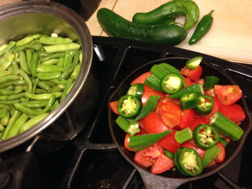 Food from FitOldDog vegetable garden.